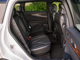 The two-row MKX seats four large adults comfortably and a smaller adult or child.
