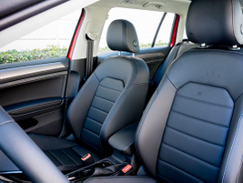 The Golf Alltrack offers leatherette seating surfaces and heated seats.
