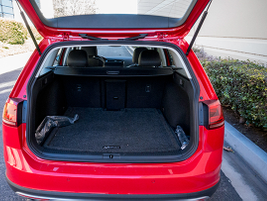 The Golf Alltrack offers 30.4 cubic feet of storage area and 66.5 cubic feet with the seats...