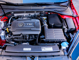 The Golf Alltrack is powered by a 1.8L TSI turbo four cylinder.