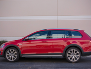 The Golf Alltrack is 180.2 inches in length.