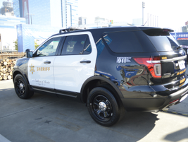 Ford Police Interceptor Utility used by the Los Angeles Sheriff's Office