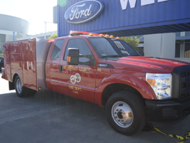 Ford Fire Department truck used by Los Angeles County