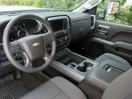 The interior offers leather surfaces and Bluetooth. Our test model would retail for $65,535.