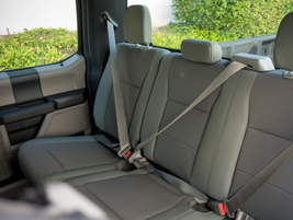 The rear cloth bench seats fold in a 60/40 configuration.