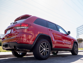 This Jeep offers air suspension that allows the vehicle to be raised or lowered to three heights...