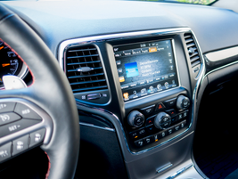 The Uconnect system brings infotainment to an 8.4-inch screen.