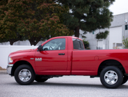 The Ram 2500 offers a link coil rear suspension to improve the ride and payload capability.
