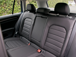 Rear bench seating accommodates three, and can fold down in a 60/40 configuration.