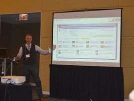 Brian Kinniry, senior director, strategic services for CEI, presented during the first panel,...