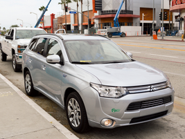 Mitsubishi showed its Outlander PHEV that should arrive in the U.S. market in the spring.
