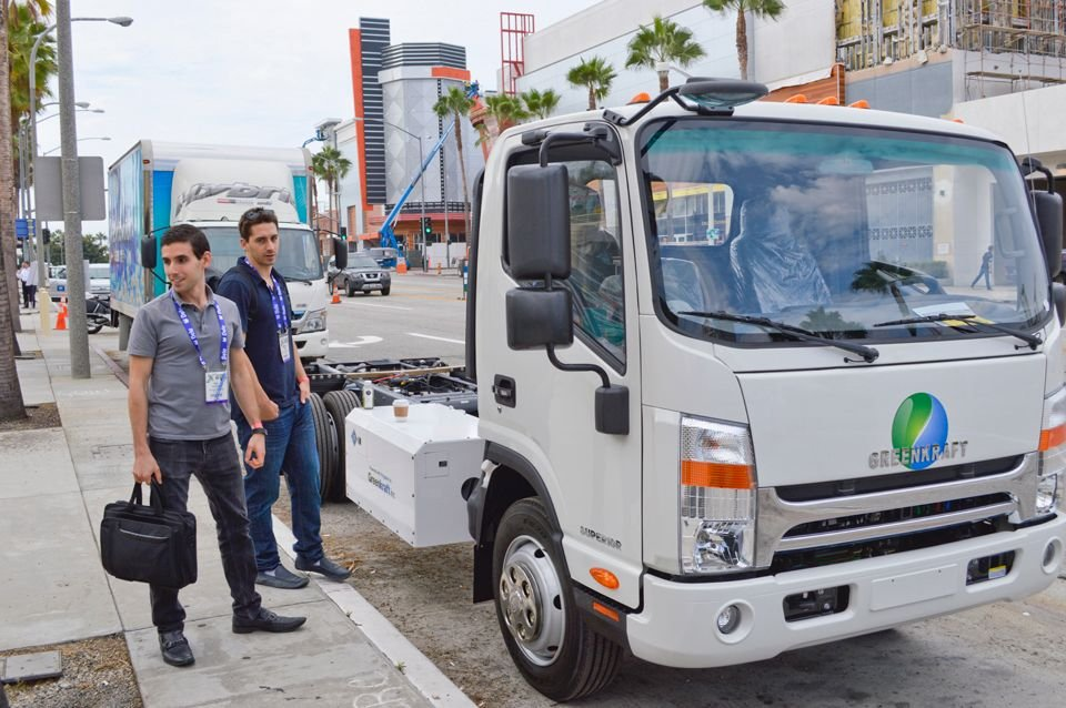 Greenkraft showed its Class 4-5 cabover that can be set up as a bi-fuel CNG or LPG truck.