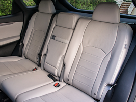 The RX 350 provides room for three in its second row.