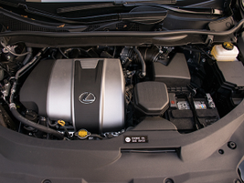 The RX 350 is powered by an upgrades 3.5L V-6 that now makes 300 hp.