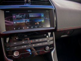 The XE can include the optonal InControl Touch Pro infotainment system that displays on a...