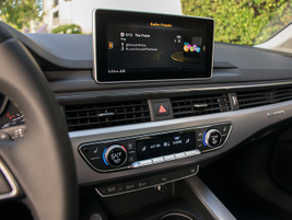 Audi's 2017 A4 offers a fixed navigation screen rather than a retractable one.