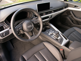 The A4 offers three-zone climate control.
