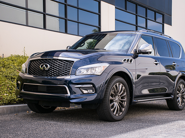 The QX80 is powered by a 5.6L V-8 that makes 400 hp and 413 lb.-ft. or torque.