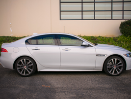 The XE is 183.9 inches long, which is about 1.5 inches longer than the BMW 340i.