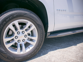 The Tahoe rides on 18-inch aluminum wheels.