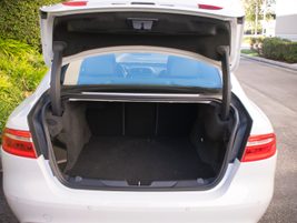 The XE's 15.9 cubic feet of cargo space can comfortably accommodate most suitcases.