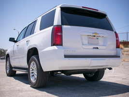 The 2016 Tahoe arrives with a 116-inch wheelbase, 80.5-inch width, and 74.4-inch height.