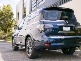 The QX80 Limited adds all-wheel drive and 22-inch wheels.