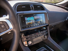 An optional 10.2-inch touch screen supports the more responsive InControl Touch Pro.