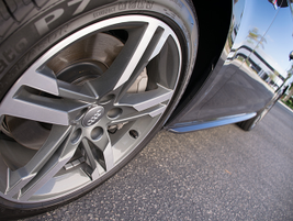 The A4 offers standard 17-inch wheels and optional 18-inch wheels (shown).