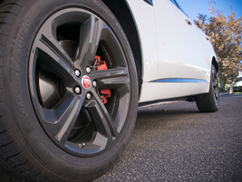Available 20-inch wheels include red brake callipers with a spare in the truck.