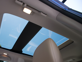 A panoramic sunroof is optional.