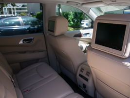 A rear-seat entertainment system is available.