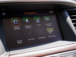 An 8-inch touchscreen provides control of various driver-selectable systems and settings.