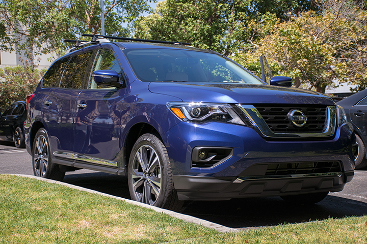 The 2017 Pathfinder features an upgraded 3.5L V-6 engine.