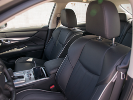 Front seats offer eight-way power adjustment and heating or cooling controls.