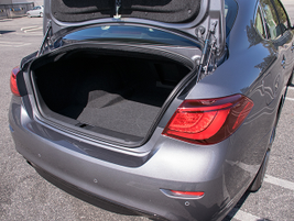 The Q70's truck provides 14.9 cubic feet of storage volume.