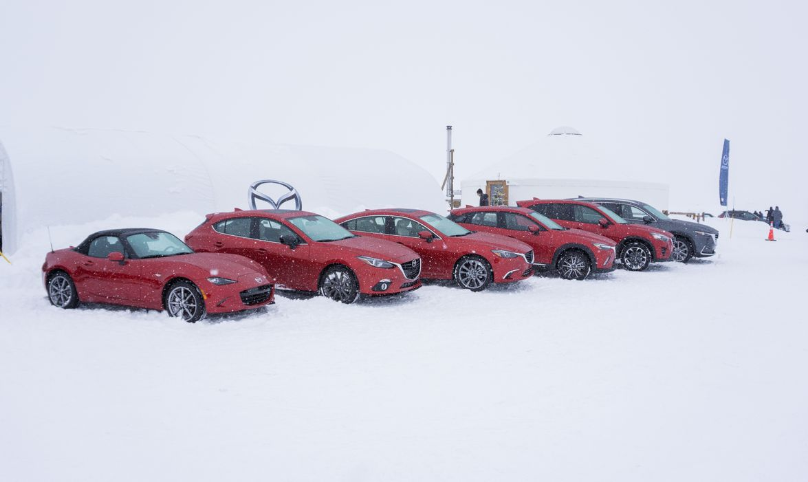 Test vehicles at the ready.