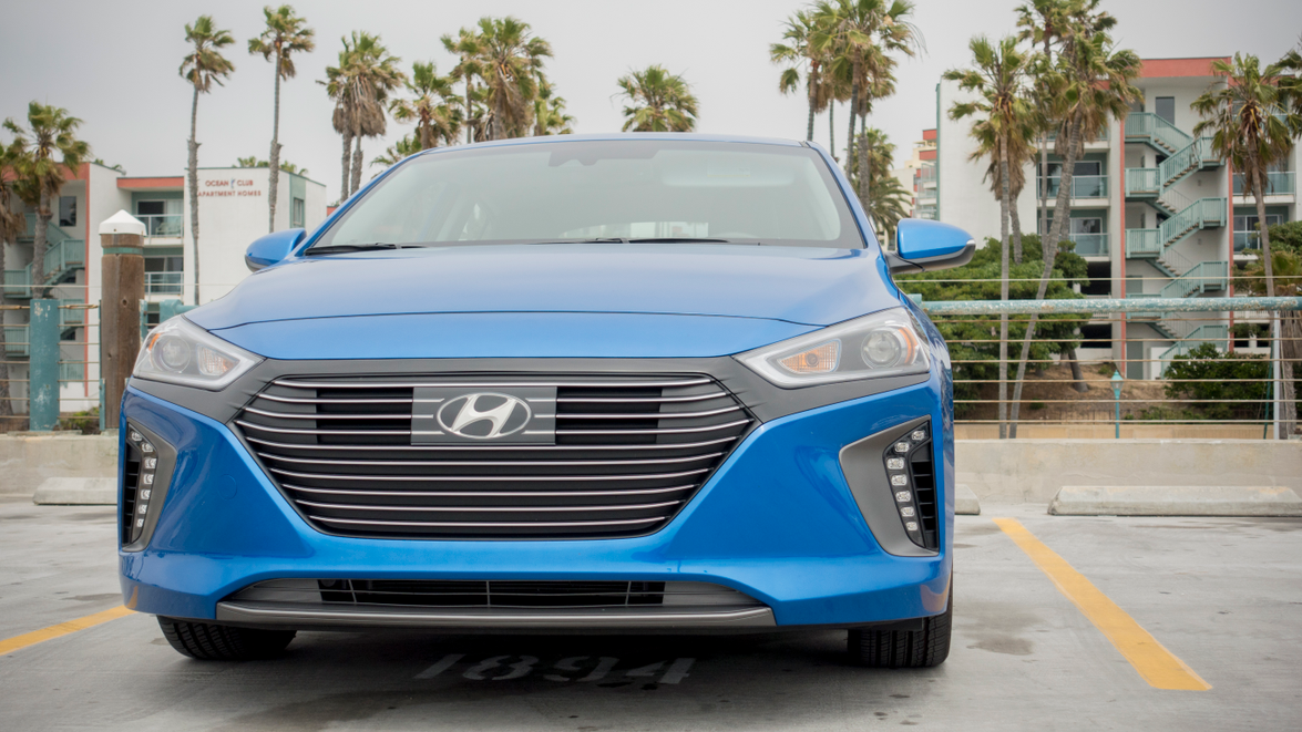 The highly efficient Ioniq gets an EPA-rated 55 mpg in the city and 54 mpg on the highway.