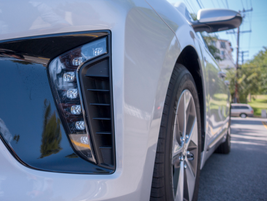 A cluster of LEDs make up the daytime running lights.