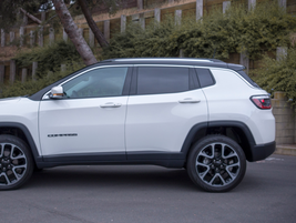 At 175.1 inches in length, the Compass is a smaller compact SUV.
