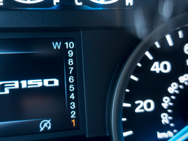 """In """"manual"""" model, the instrument panel shows what gear the truck is in."""