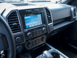 The truck is outfitted with Ford's Sync3 system.