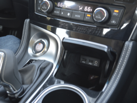 For the 2016 Maxima, Nissan moved the start button closer to the shifter.