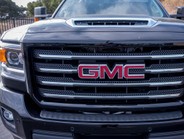 A hood vent provides the truck's diesel engine with an additional power boost.