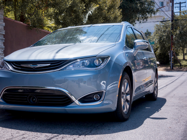The PHEV version of Chrysler's new minivan looks sleek and a bit futuristic.