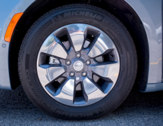 The vehicle's standard 17-inch wheels can be upgraded to 18-inch wheels.