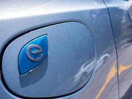 Additional badging signifies the charging port door.