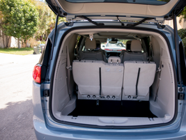 The third-row bench folds into the floor for additional cargo space.