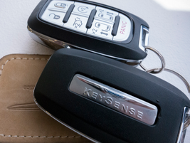 The optional KeySense fob can be programmed to limit speed and audio volume and mutes the audio...