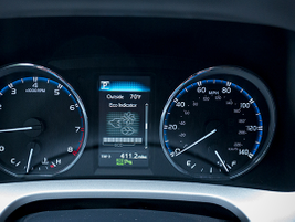 The multi-informational display available on the driver dashboard allows drivers to navigate...